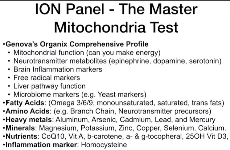 How to interpret an advanced Mitochondria Panel – the most important test for your whole metabolism